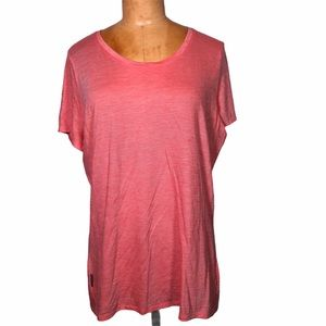 Icebreaker Women's Orange T Shirt Cool Lite